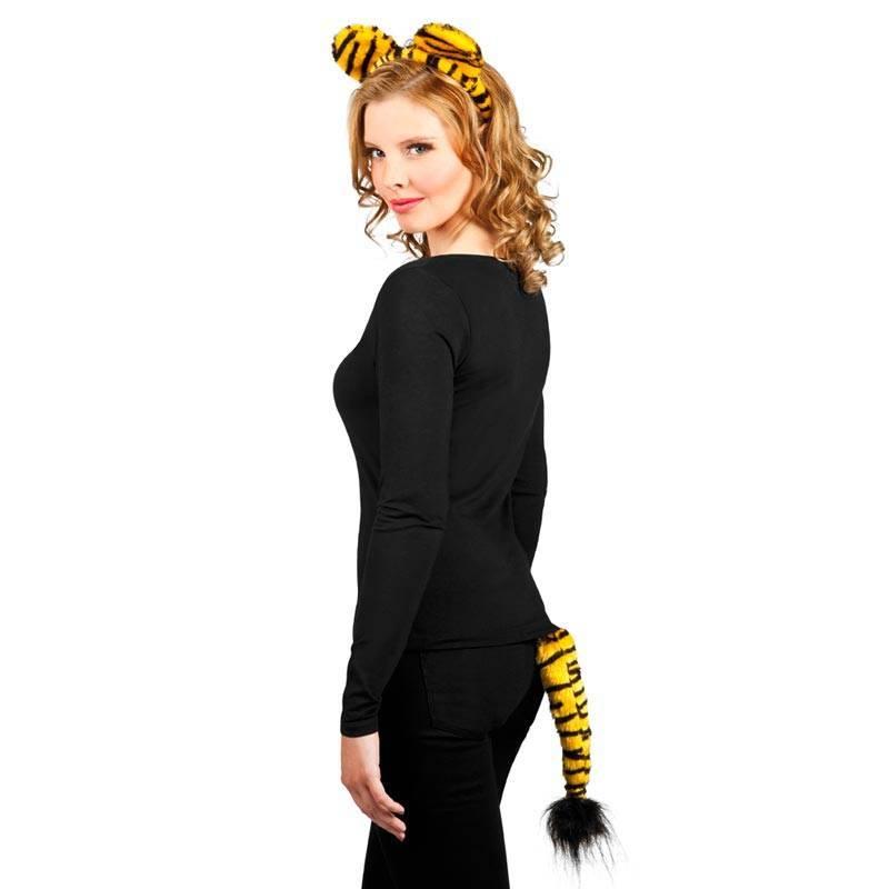 Serre-tête avec oreilles et queue de tigre