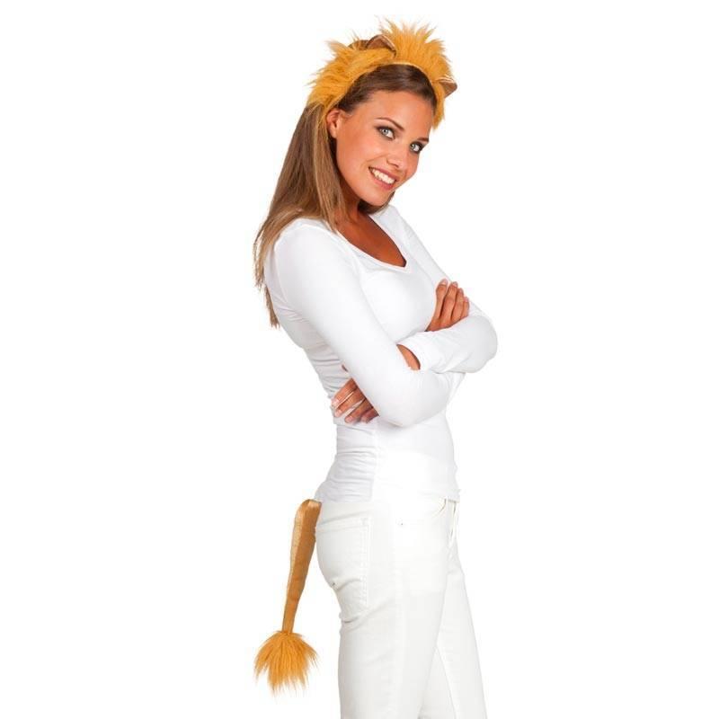 Serre-tête avec oreilles et queue de lion