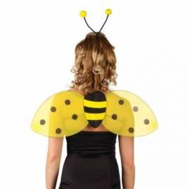 Pack abeille avec serre-tête et ailes