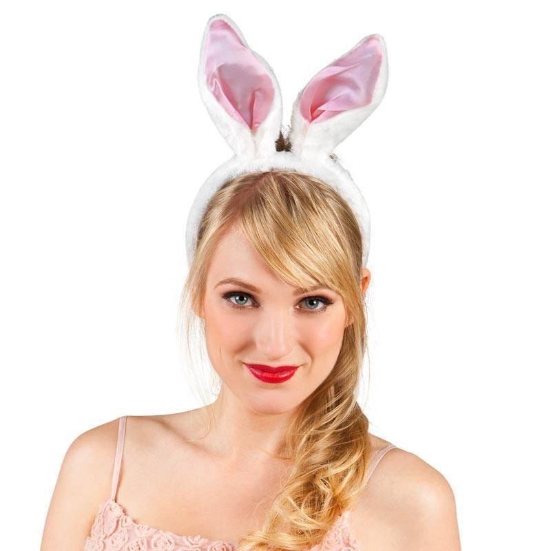 Serre-tête avec grandes oreilles de lapin