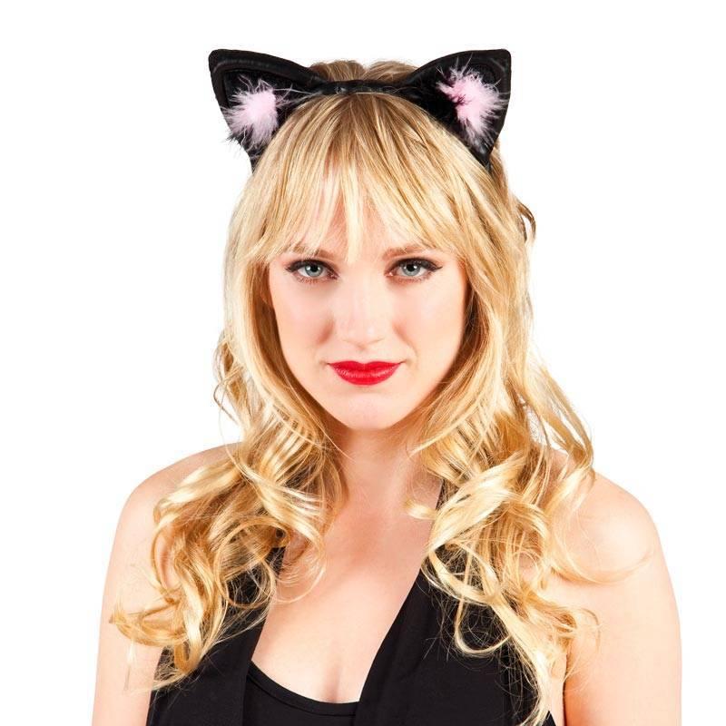 Serre-tête avec oreilles de chat noir