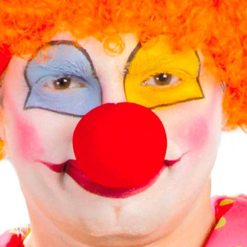 Nez de clown, rouge, en mousse