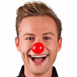 Nez de clown, rouge, en plastique