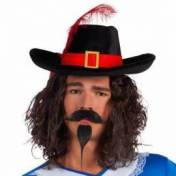 Moustache et barbiche de mousquetaire