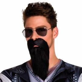 Longue barbe de motard