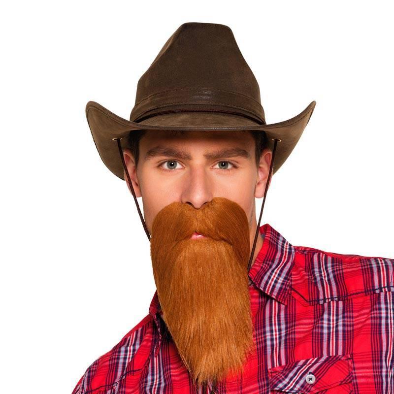 Longue barbe rousse de cow-boy