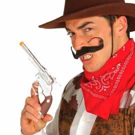 Revolver ou pistolet chromé en plastique