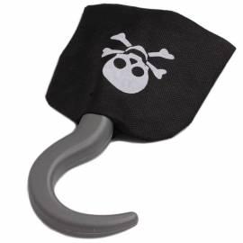 Crochet de pirate, noir et argent
