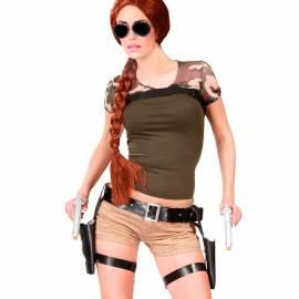 Cartouchière avec double étuis et deux pistolets
