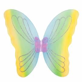 Ailes de papillons multicolores dégradées