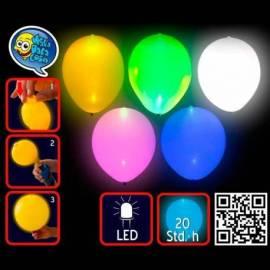 5 ballons de couleur lumineux