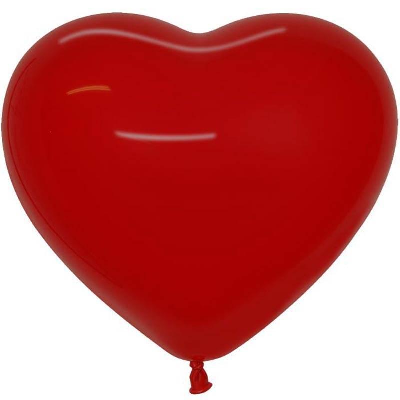 10 ballons de couleur en forme de coeur