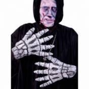 Paire de gants en forme mains de squelettes