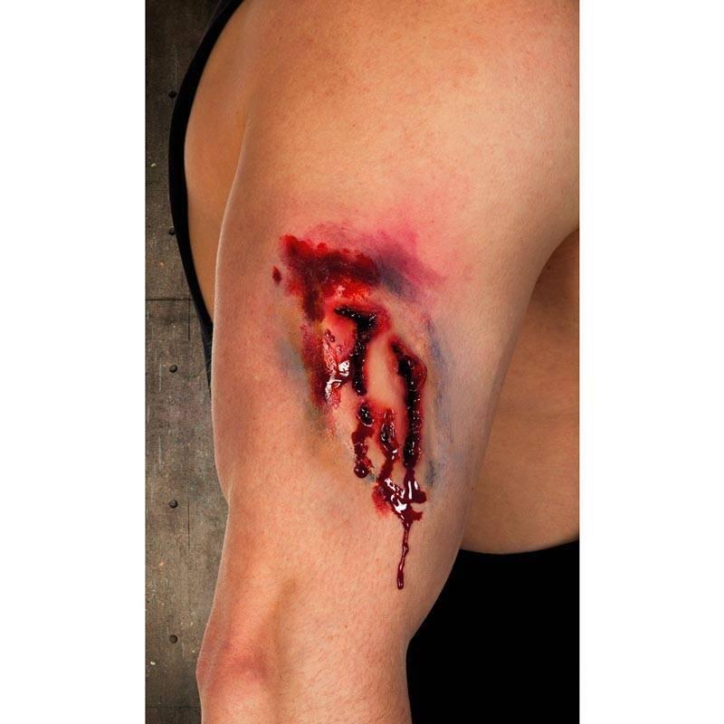 Fausse blessure par morsure