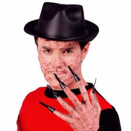 10 longs faux ongles noirs de vampire