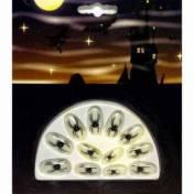 12 faux ongles phosphorescents avec un motif araignée