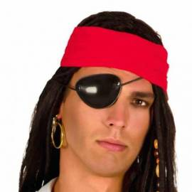 Boucle d'oreille et bandeau de pirate