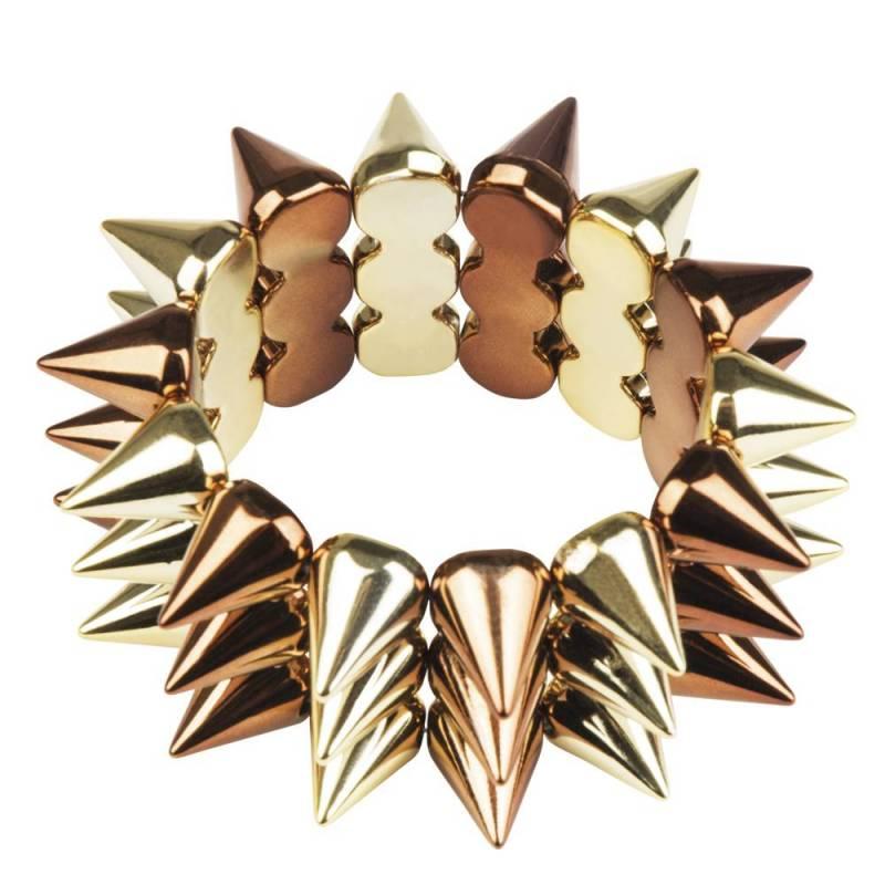 Bracelet punk de couleur couvert de pics
