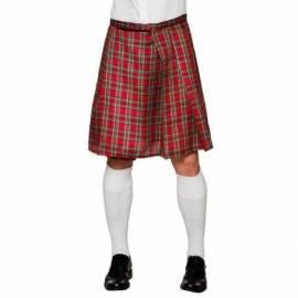 Kilt écossais rouge ou vert