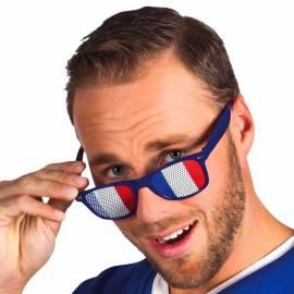 Lunettes de supporter français, bleu blanc et rouge