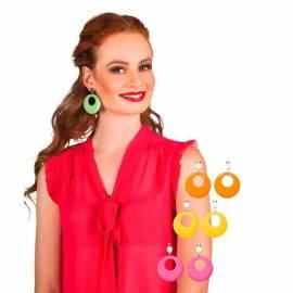 Boucles d'oreilles hippies de couleur