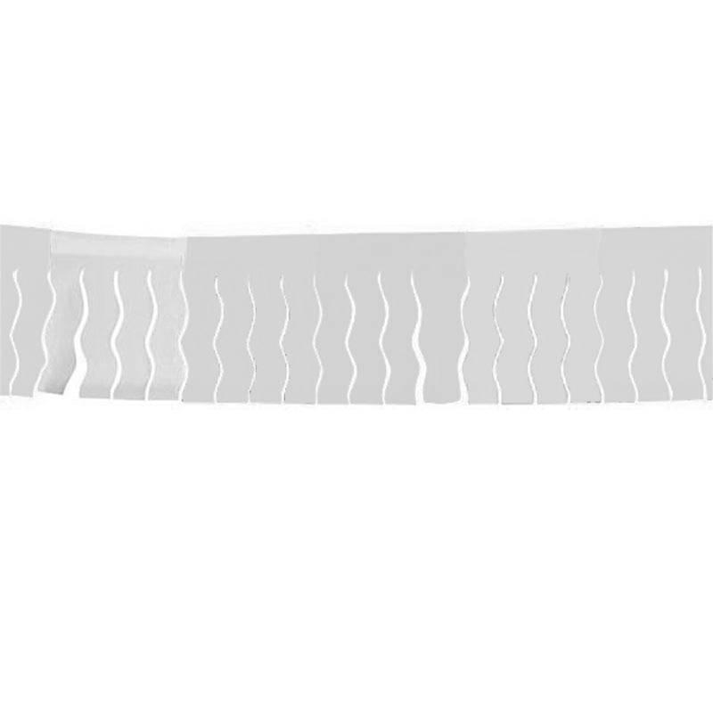 Guirlande blanche, à franges, de 25 mètres