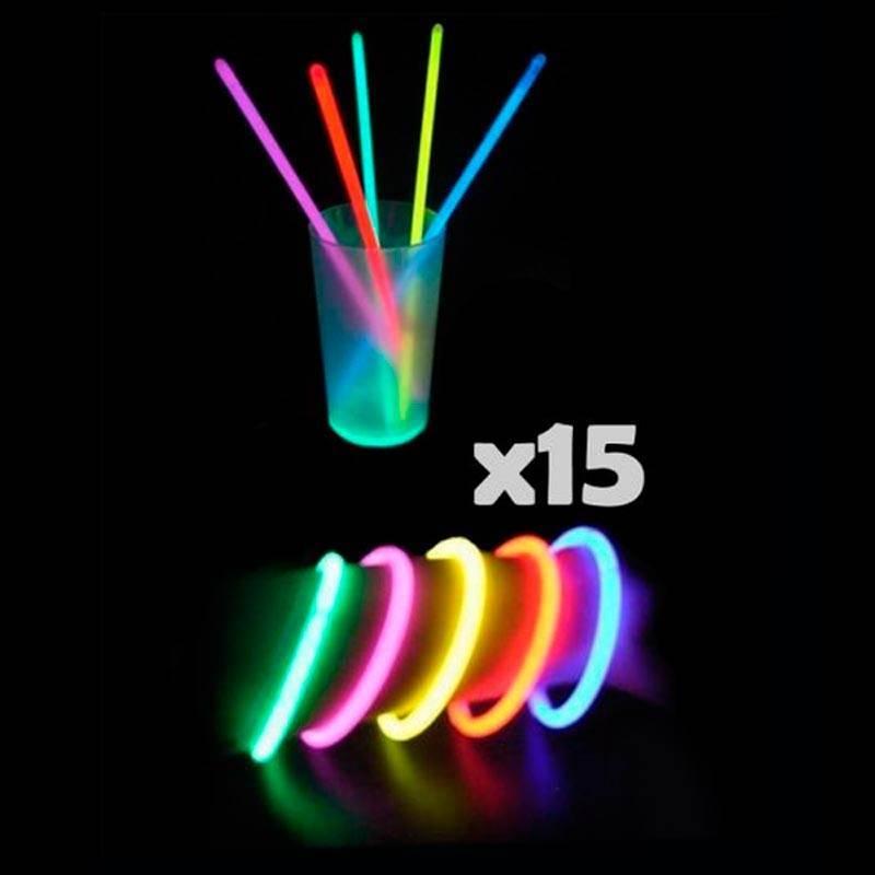 15 bracelets fluo