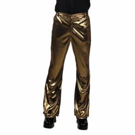 Pantalon patte d'eph à fines paillettes or ou argent