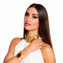 Bracelet métal doré avec des rubis