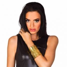Large bracelet métal doré