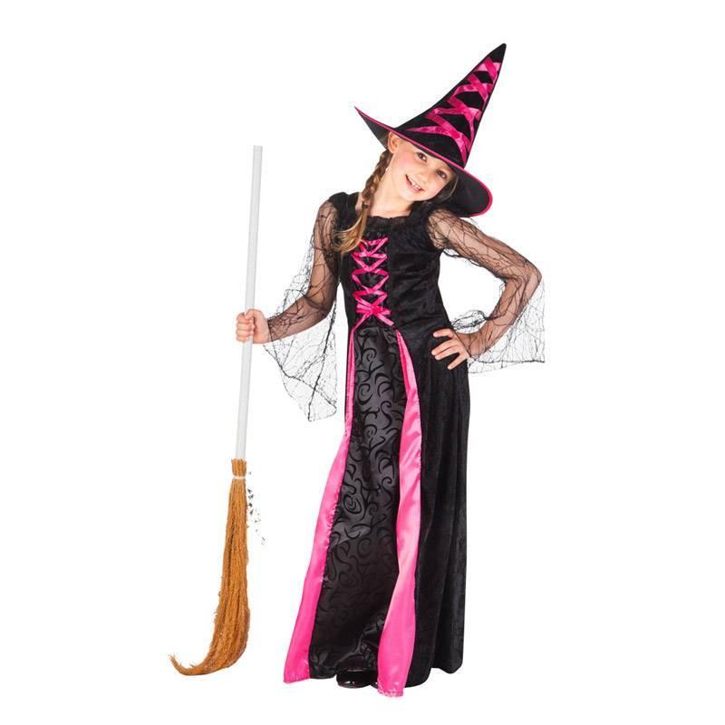 Deguisement de sorcière rose et noire