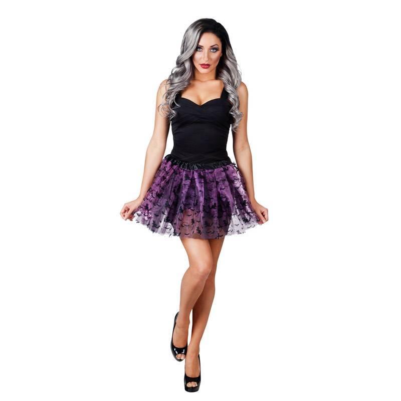 Tutu violet et noir en tulle
