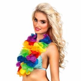 Collier de fleurs multicolores