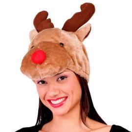 Chapeau en forme de tête de renne