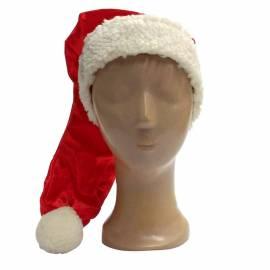 Bonnet rouge à pompon blanc