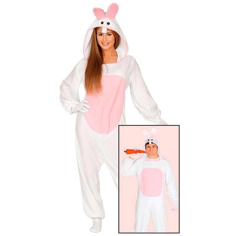 Costume lapin blanc et rose deguisement animaux