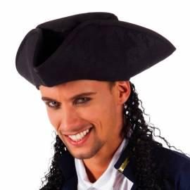 Chapeau de pirate avec cheveux