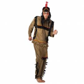 Déguisement d'indien avec chapeau et une plume