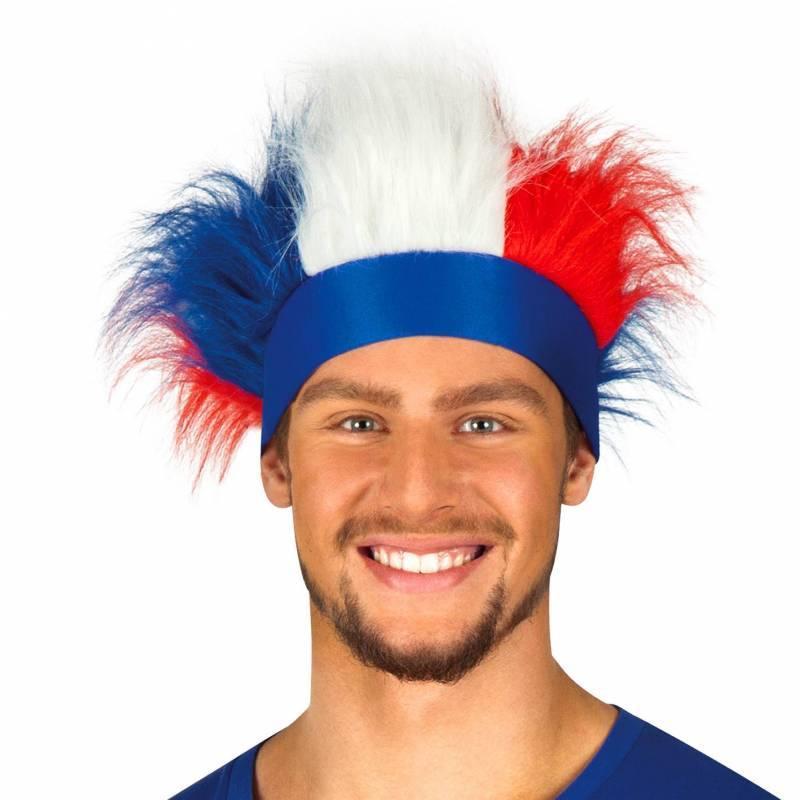 Bandeau avec cheveux tricolores