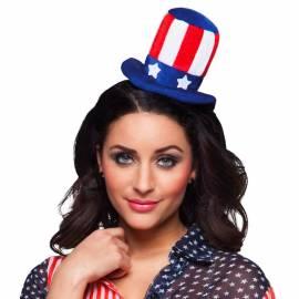 Serre-tête avec chapeau aux couleurs des Etats-Unis