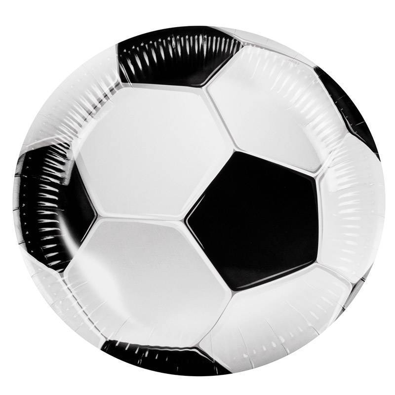 Ensemble de 6 assiettes en forme de ballon de foot