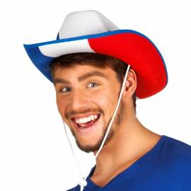 Chapeau de cow-boy tricolore