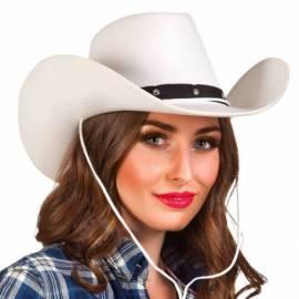 Chapeau de cow-boy blanc et noir