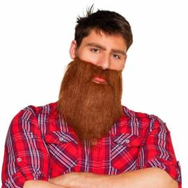Barbe chatain de hipster