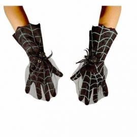 Gants Noirs toile d'araignée