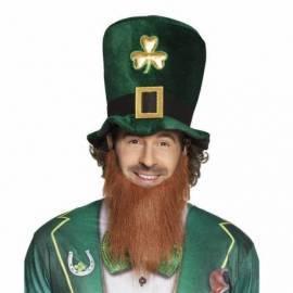 Chapeau Irlandais avec barbe rousse