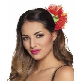 Pince à cheveux avec fleur en tissu