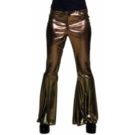 Pantalon style disco couleur Or