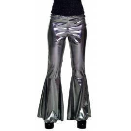 Pantalon style disco couleur argent