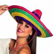 Chapeau sombrero multicolore